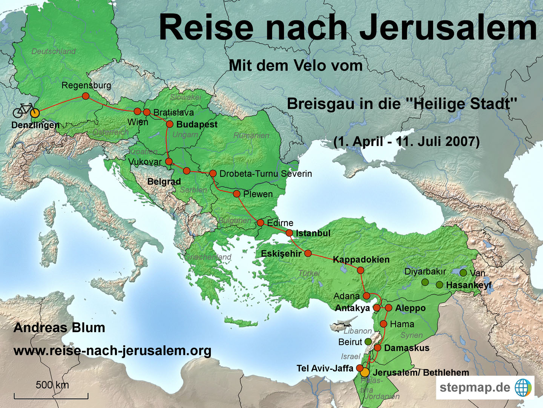 Tel Aviv Jerusalem Karte.2007 Reise Nach Jerusalem